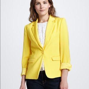 Alice + Olivia Elyse Blazer Bright Yellow